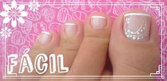 Simple Toe Nails, Pretty Toe Nails, Pretty Toes, Fancy Nails, Pedicure Nail Art, Toe Nail Art, Manicure And Pedicure, Toe Nail Designs, Simple Nail Designs