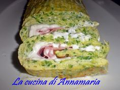 Rotolo di zucchine con prosciutto e robiola, ricetta golosa I AM SO GOING TO MAKE THIS!,