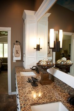 Master Bathroom & Closet Remodel - mediterranean - bathroom - st louis - Gina McMurtrey Interiors