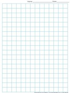 Graph Paper: Full Page Grid - half inch squares - boxes - no name line - King Virtue's Classroom Never run out of graph paper again! Use this item to print grid paper for math, science, and other classroom activities. Printable Graph Paper, Free Printable Stationery, Minecraft Bedroom Decor, Math School, Chicken Scratch, Fabric Manipulation, Note Paper, Planner, Writing Paper
