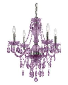 AF Lighting 4-wbr/Light Mini-wbr/Chandelier For a Girls Purple Bedroom...