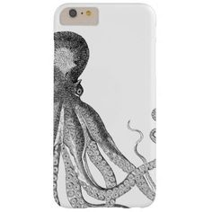 #white - #Black and White Octopus Smart Phone Case
