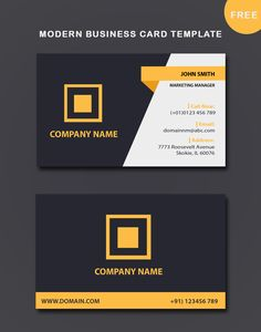 triangle commercial free business card template psd download