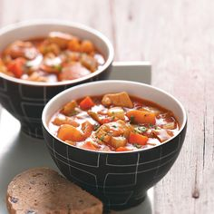 """Curry Chicken Soup Recipe -""""Despite the longer ingredient list, this yummy soup is quick and easy."""" What a fantastic way to get veggies! —Jane Hacker, Milwaukee, Wisconsin"""