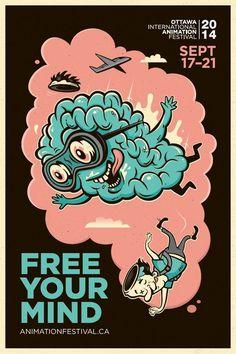 Illustration & Painting / Adeevee - 2014 Ottawa International Animation Festival: Free your mind