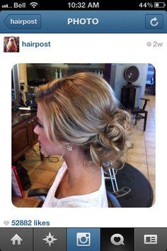 Bridesmaid hair for Sarah's wedding?
