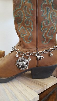 Rhinestone Horse Boot Anklet Bling by HowlingWolvesJewelry on Etsy