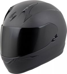 Scorpion Full-Face Solid Helmet Matte Black X-Large (More Size Options) Badass Motorcycle Helmets, Biker Helmets, Motorcycle Types, Motorcycle Outfit, Motorcycle Gear Women, Matte Black Helmet, Ducati Motorcycles, Motorbikes, Cosplay Helmet