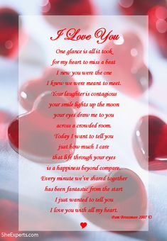 I Love You poem. Welcome to repin and share enjoy