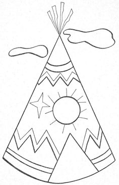 Things To Color Colouring Pages, Coloring Pages For Kids, Coloring Sheets, Native American Teepee, Native American Patterns, Summer Crafts, Fall Crafts, Applique Patterns, Quilt Patterns
