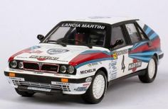The Lancia Delta Integrale driven by Miki Biasion and Tiziano Siviero to win the 1989 Monte Carlo Rally.