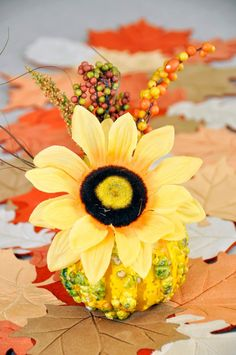 How to craft and decorate with gourds Decorative Gourds, Centerpieces, Table Decorations, Autumn, Fall, Florals, Stuff To Do, November, Thanksgiving