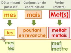Affichages homophones How To Teach Grammar, Teaching Grammar, College Teaching, Education College, French Grammar, Teaching Methods, French Quotes, Teaching French, Learn French