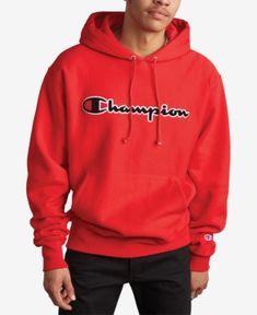 Champion Men's Script-Logo Fleece Hoodie - Blue S Sweatpants Outfit, Hoodie Outfit, Red Hoodie, Fleece Hoodie, Trendy Hoodies, Comfy Hoodies, Guys Hoodies, Sweatshirts, Nike Outfits