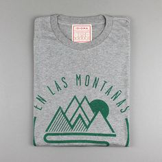 Organic - Freedom in the Mountains T-shirt (Grey)