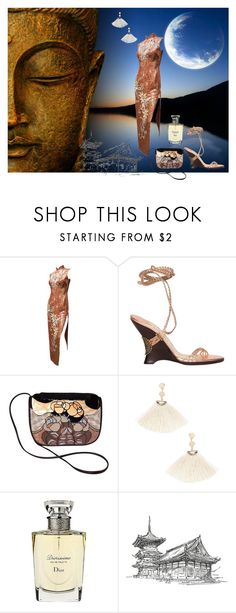 """""""ONE NIGHT IN BANGKOK"""" by suninvirgo ❤ liked on Polyvore featuring Jimmy Choo, Shashi and Christian Dior"""