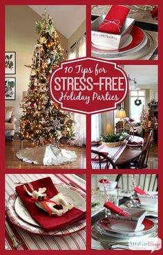 Do you host an annual holiday party or plan to have company this winter? Try these 10 Tips for Stress-Free Holiday Parties and Entertaining this season!