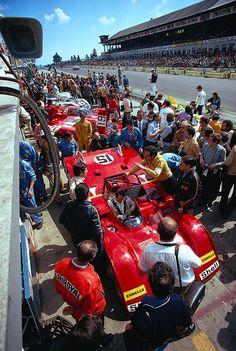Scuderia Ferrari at the 1000 km race 1971