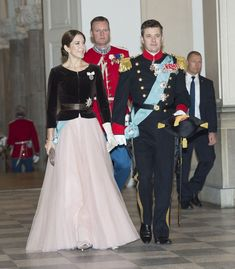 Crown Princess Mary and Crown Prince Frederik attend a New Years Court on January 7, 2015.