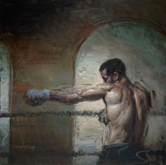 painterly boxer by Steve Houston
