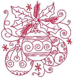Christmas Deco a redwork set of designs. These designs have endless use on different projects. Hand Embroidery Designs, Embroidery Patterns, Christmas Deco, Christmas Crafts, Christmas Templates, Christmas Embroidery, Vintage Santas, Colorful Drawings, Preserves