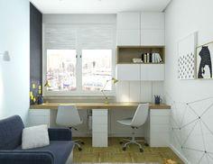 Pokój dwóch chłopców, osiedle na Stegnach w Warszawie, 8,5 m2 – Pracowania projektowania wnętrz