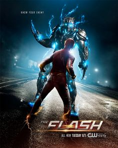 The CW has released a new featurette, a new poster, and two intense new sneak peek clips from tonight's episode of The Flash. Plus, we also have a new poster for next week's Supergirl! Series Dc, Flash Tv Series, New Tv Series, Series Movies, The Flash Poster, New Poster, Print Poster, Dc Comics, Flash Comics