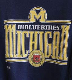 Vintage Graphic, Vintage Tees, Michigan Wolverines, Chevrolet Logo, 1990s, Graphic Tees, Logos, Classic, Derby