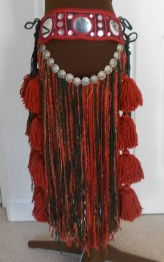 Red Tribal Bellydance Belt by craftynara on Etsy, $175.00. Tribal love......
