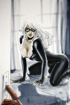 Before the lights come on | Black Cat and Spider-Man • Clay Mann