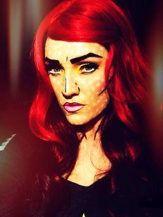 Pop Art makeup.
