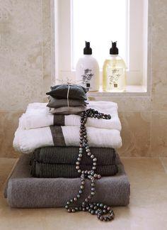 HIMLA The Stripe towel Kohl, Ella towel Black, Lina towel Steel, Vendela Scented bag Kohl and Imagine Lotion and liquid soap Lavender