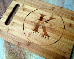 Large Engraved Cutting Board, Personalized Cutting Board, Custom Engraved, Bamboo Board: Wedding, Housewarming, Mother's Day, Aniversary