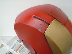 Picture of Gold Paint, Weathering and Clear Coat Spray Paint Cans, Acrylic Spray Paint, Gold Spray Paint, Red Paint, Iron Man Helmet, Painters Tape, Foam Crafts, Masking Tape, Projects To Try