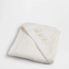 HANDDOEK MET APPLICATIE EN GEBORDUURDE KATTEN - Collectie - New Born | Zara Home Netherlands