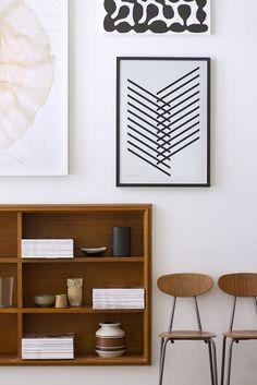 Decoração de: Detalhes; pôster geométricos; Casa de Valentina