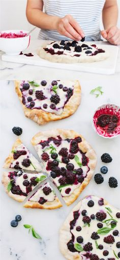 Goddess Berry Pizza with Whipped Mascarpone Cheese & Basil | CiaoFlorentina.com @CiaoFlorentina