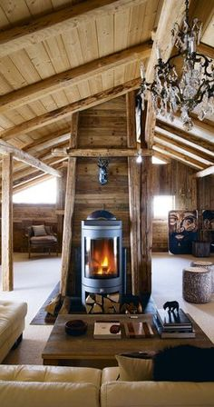 Chalet de montagne pour skieurs - Lilly is Love Chalet Design, Chalet Style, House Design, Cabana, Chalet Interior, Modern Rustic Homes, Cabins And Cottages, Wood Interiors, Living Room Remodel
