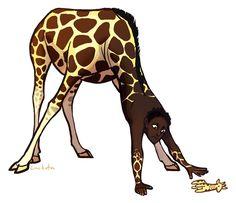 giraffe centaur lackofa.tumblr.com