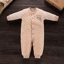 Bebek Rompers Kış Kız Bebek Organik Pamuk Giyim Tulumlar Sonbahar Giyim Seti Yenidoğan Bebek Giysileri Pamuk Bebek Tulum(China)