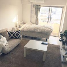 ayyyyaさんの、部屋全体,観葉植物,IKEA,一人暮らし,Francfranc,ニトリ,1K,3Coins,10畳,のお部屋写真