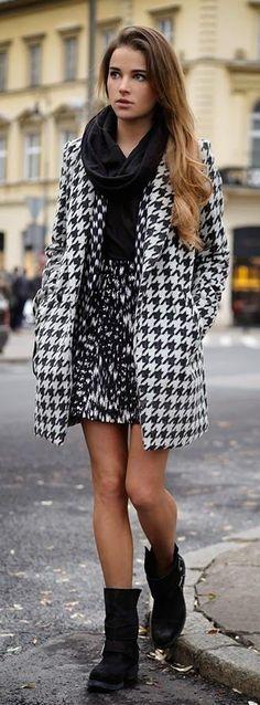 #street #fashion fall / mixed prints @wachabuy