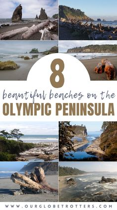 Explore the most incredible beaches of the Olympic Peninsula in Washington and the Olympic National Park. A focus on accesibility for families and where to camp or stay nearby for th best Olympic Peninsula experiences | Best family beaches | Washington State | Our Globetrotters Family Travel Blog Best Family Vacation Destinations, Best Family Beaches, Us Travel Destinations, Vacations, Us West Coast, West Coast Road Trip, Rialto Beach, Waterfall Trail, Olympic Peninsula