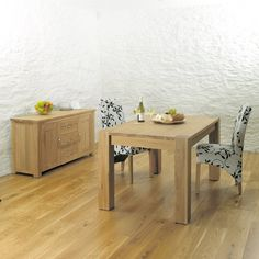 Aston Solid Oak Dining Table (4-6 Seater) -  - Dining Table - Baumhaus - Space & Shape - 1