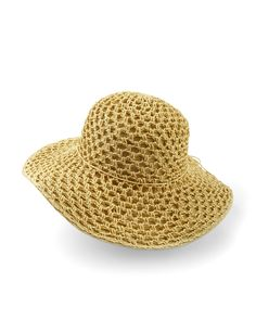 Stay stylish at the beach or pool with this textured, woven sun hat.