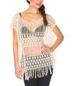 Black bra and fringe top