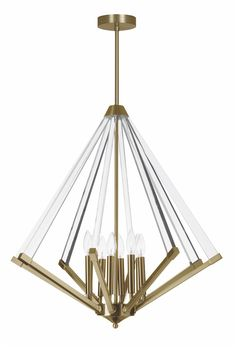 Clearly Modern Glass Tubes Island Chandelier Shades of Light