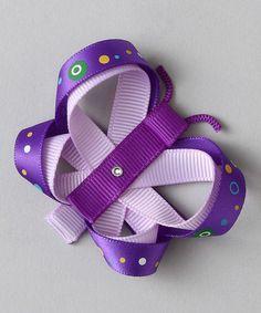 Look what I found on #zulily! Purple Butterfly Clip #zulilyfinds