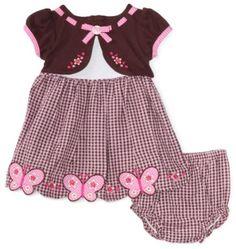 Amazon.com: Youngland Baby-girls Infant Mock Cardigan Butterfly Seersucker: Clothing