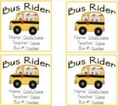 Transportation Tags for Students {bus, car, afterschool, and daycare riders} Beginning Of Kindergarten, Kindergarten Class, Beginning Of School, First Day Of School, Name Tag For School, School Tool, School Stuff, Educational Activities, Classroom Activities